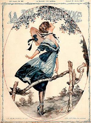 Illustration for La Vie Parisienne by French artist Cheri Heruard