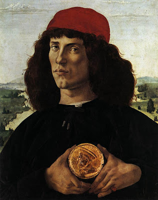 Portrait of Man with a Medal of Cosimo the Elder by Sandro Boticelli