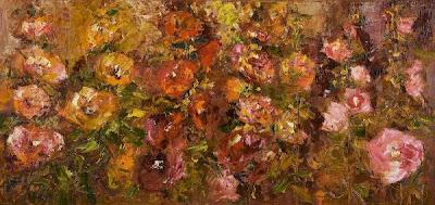 Flower Painting by Polish Artist Malgorzata Kruk