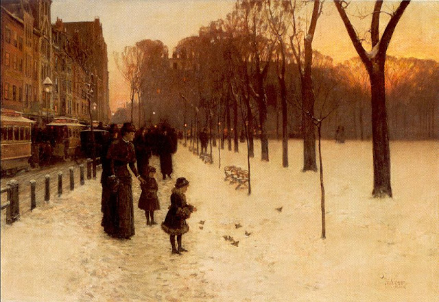 Winter Painting by American Impressionist Childe Hassam