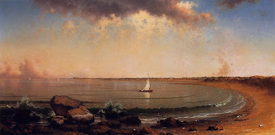 Seascape Painting by American painting Martin Johnson Heade