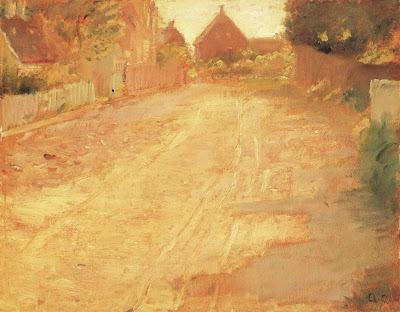 Landscape Painting by Danish Impressionist Artist Anna Ancher