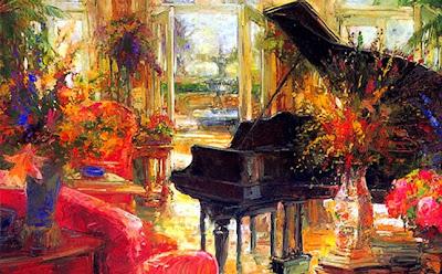 Interior Painting by American Artist Stephen Shortridge