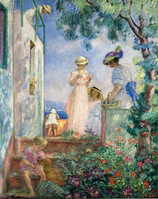 Women Painting by Henri Lebasque French Artist