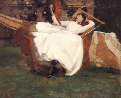 Sir John Lavery, The Red Fan