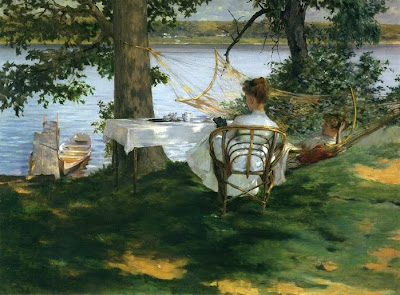Irwing R. Wiles. Afternoon Tea on the Terrace