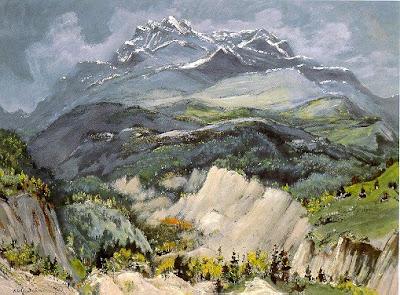 Painting by Adolf Dehn American Artist