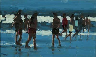 Seascape painting by John Morris British Artist