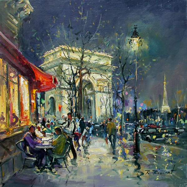 paris in painting by robert ricart french artist blog of