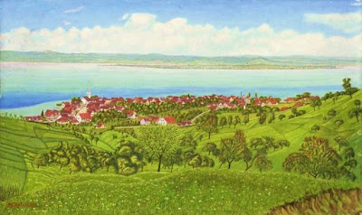 Landscape Painting by Adolf Dietrich Swiss Naive Artist