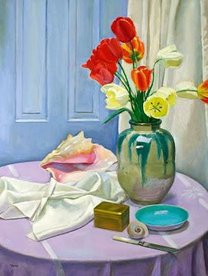 Still Life Painting by American Artist Frank Trefny