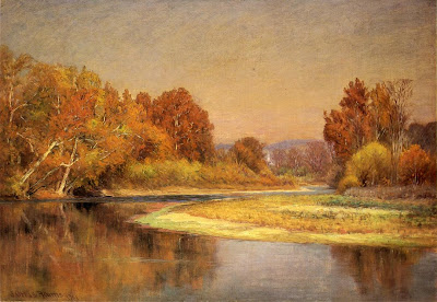 Landscape Painting by American  Impressionist  Artist John Ottis Adams