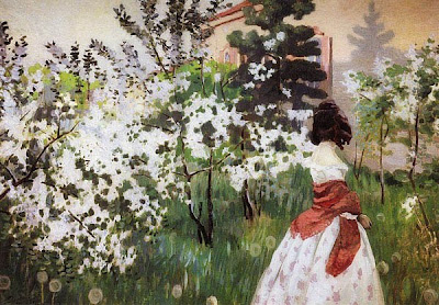 Spring Bloom in Painting. Victor Borisov-Musatov, Spring