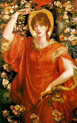 Spring Bloom in Painting. Dante Gabriel Rossetti, A Vision of Fiammetta