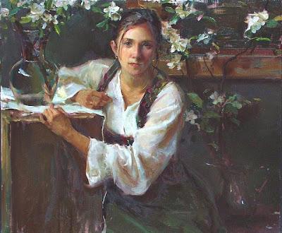Spring Bloom in Painting. Daniel F. Gerhartz, Blossom