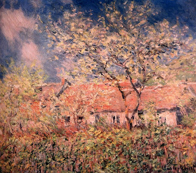 Spring Bloom in Painting. Claude Monet. Springtime at Giverny