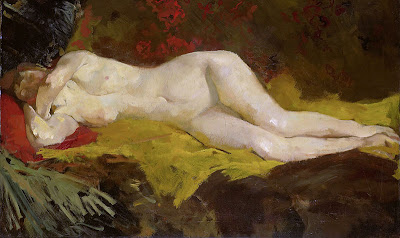 Nude Painting by Dutch Artist George Hendrik Breitner