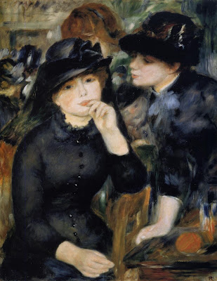 Painting by Pierre-Auguste Renoir Girls in Black, 1880