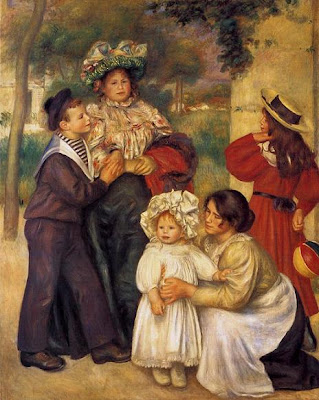Painting by Pierre-Auguste Renoir The Artist's Family, 1896