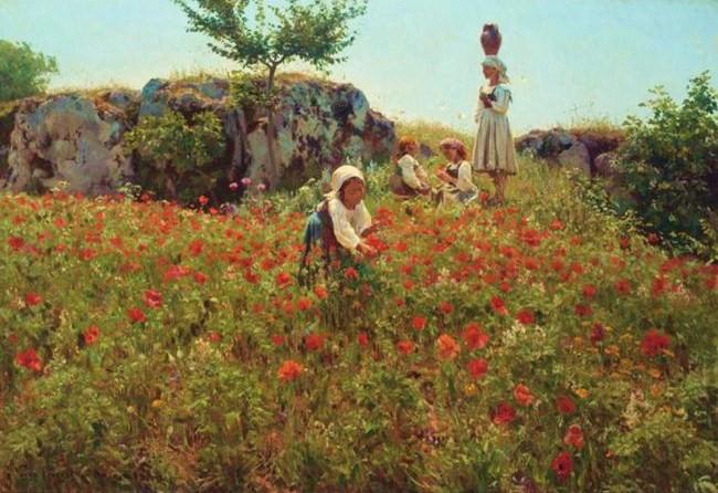 Omiljena slikarska tema Makovi VALMUER,+SORA+%28PICKING+POPPIES,+SORA%29