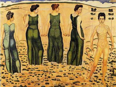 Oil Painting by Ferdinand Hodler Swiss Art Nouveau Artist