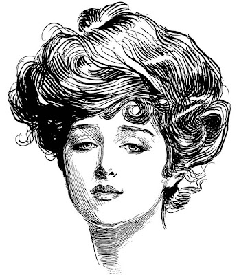 Charles Gibson. American Illustrator. The Gibson Girl. Illustration