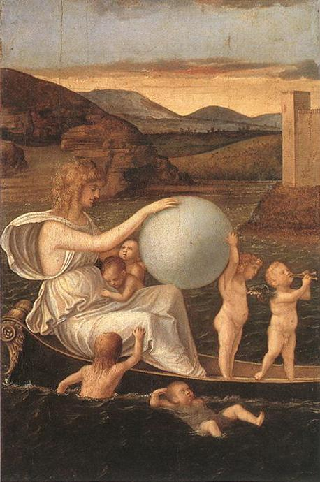 Giovanni Bellini, Fortune from Four allegories,Crystal Ball in Painting, oil paintings, canvas painting,Figurative painting