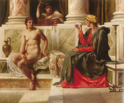 Edward John Poynter, Crystal Ball in Painting, oil paintings, canvas painting,Figurative painting
