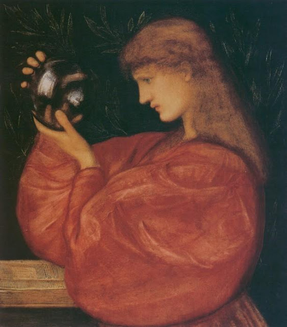 Edward Burne-Jones Astrologia,Crystal Ball in Painting, oil paintings, canvas painting,Figurative painting