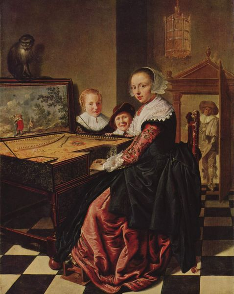 Women and Music in Painting 16-18th c, Jan Verkolje, Elegant Couple
