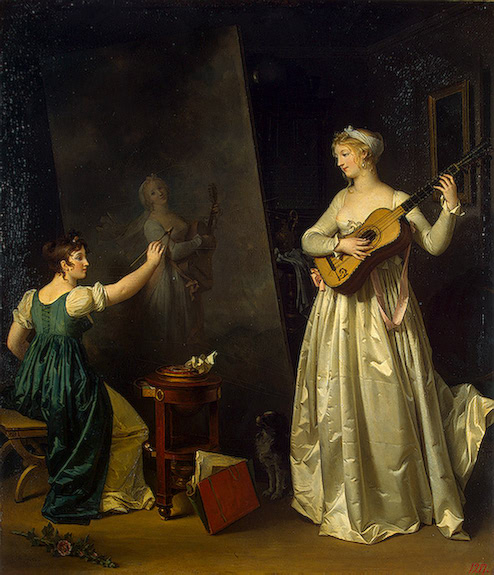 Women and Music in Painting 16-18th c, Marguerite Gerard, a Portrait of a Musician