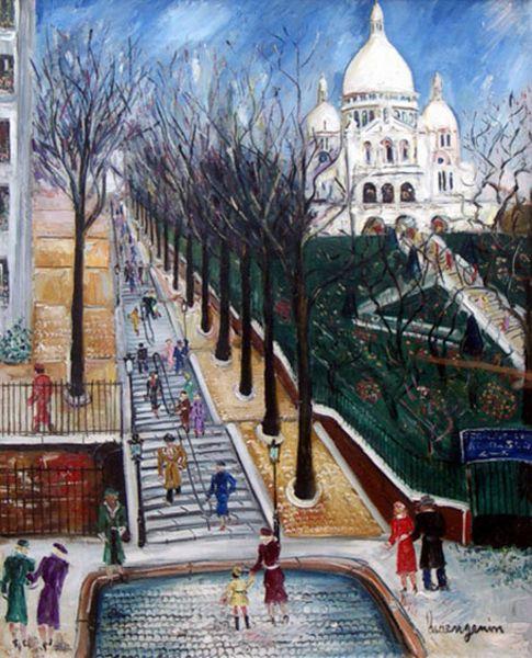 Lucien Genin Sacre Coeur in Painting