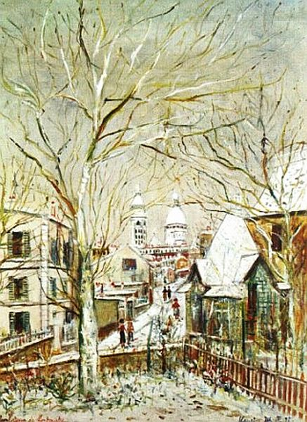 Sacre Coeur in Painting. Maurice Utrillo