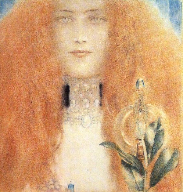 Fernand Khnopff Belgian Symbolist painter,Belgian artists,Modern art,Symbolist painting
