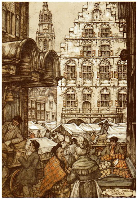 Anton Pieck Dutch painter, graphic artist,watercolour, etchings, woodcarvings, engravings