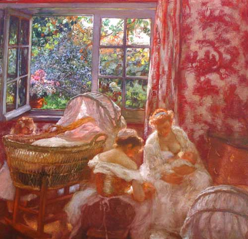 Oil Painting by Gaston de LaTouche French Artist