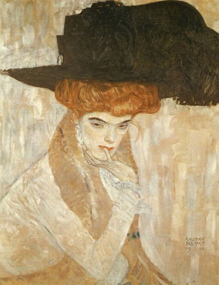 Gustav Klimt. The Black Feather Hat, 1910