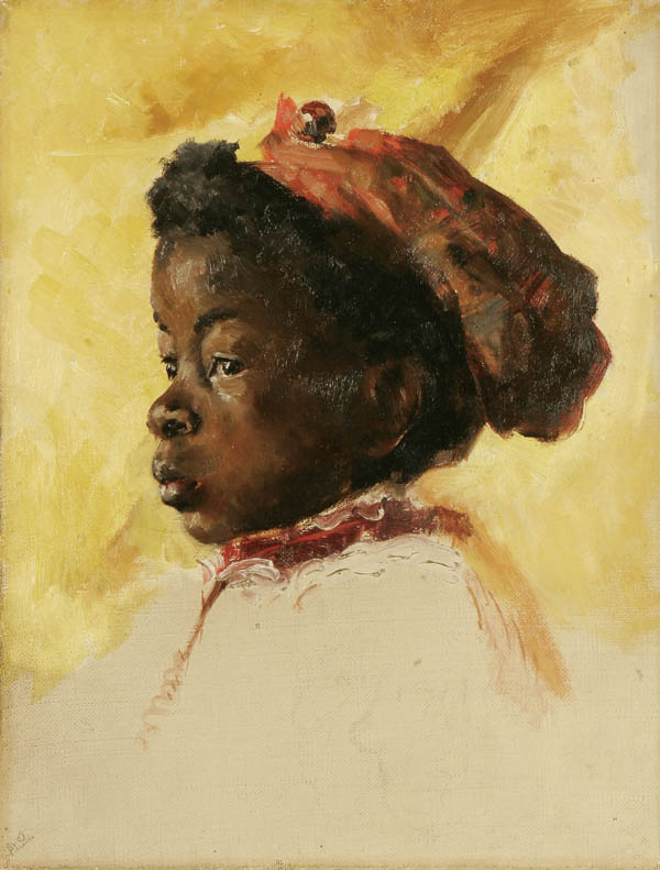 Unknown Artists. American School, Profile Portrait of a Young Black Child, circa 1890