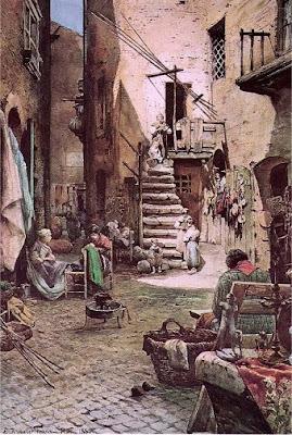Ettore Roesler Franz. Vicolo Capocciuto in Ghetto