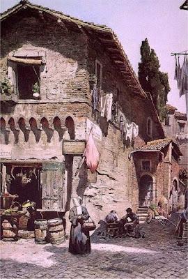 Ettore Roesler Franz. Via della Luce in Rome