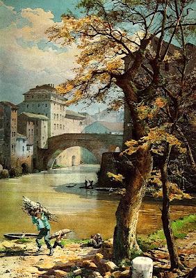 Ettore Roesler Franz's Watercolor