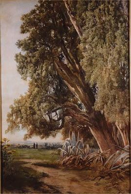 Ettore Roesler Franz. Painting of Villa d'Este