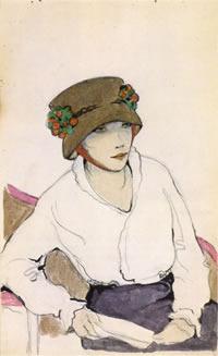 Jeanne Mammen, German artist,Weimar era artist, graphics, Aphrodite, c 1914