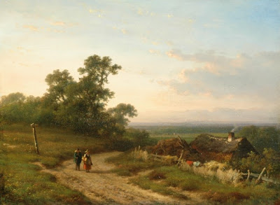 Lodewijk Johannes Klejn. An extensive Summer Landscape with Peasants