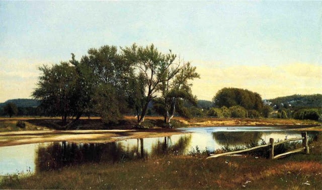 James McDougal Hart. River Reflections, 1865,Summer Themed Oil Paintings
