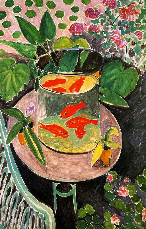 Henri Matisse paintings,Goldfish in Painting