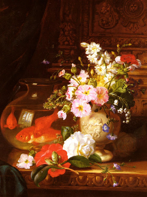 John Wainwright painting,Goldfish in Painting