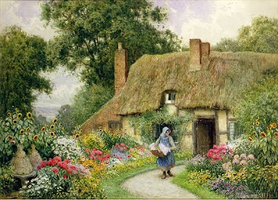 Arthur Claude Strachan. Taking out the Washing