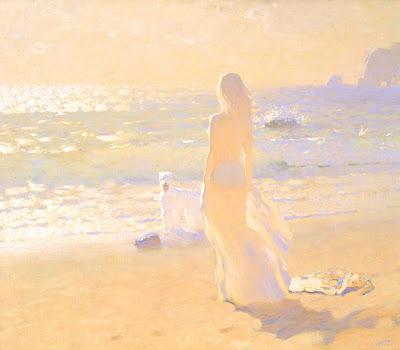 Beach Painting by Bato Dugarzhapov