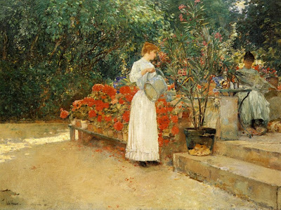 Childe Hassam. After Breakfast